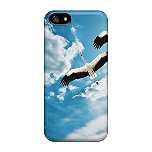 Fashion Tpu Case For Iphone 5/5s- Cranes Birds Defender Case Cover