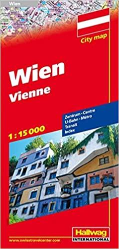 Wien Vienna City Map Hallwag 9783828305304 Amazon Com Books