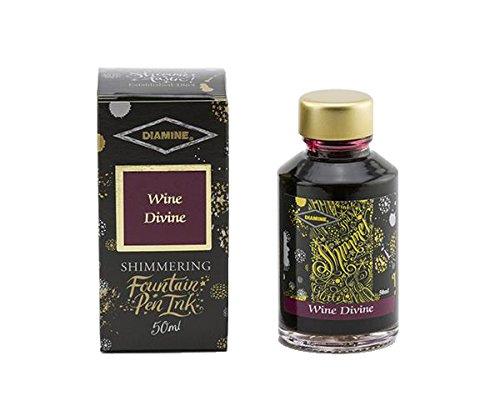 Divina Fountain Pen - Diamine - Shimmering Fountain Pen Ink, Wine Divine 50ml
