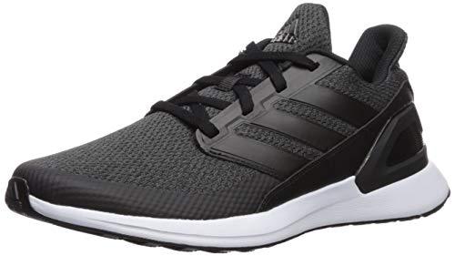 adidas Unisex-Kid's RapidaRun EL Running Shoe, Black/Carbon/White, 6.5 M US Big Kid