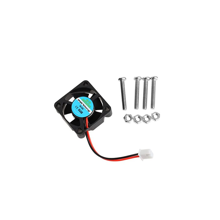 SCASTOE DC 5V CPU Cooling Fan with Screws for Raspberry Pi 3/Pi 2 Model B RPI B+