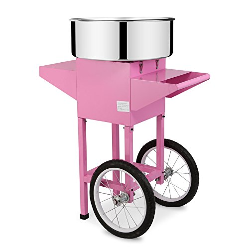 FoodKing Cotton Candy Machine Candy Floss Maker Electric Floss Maker Cart Kit Commercial Use 1030W for Wedding Party (Cotton Candy Machine with Cart) by FoodKing (Image #2)