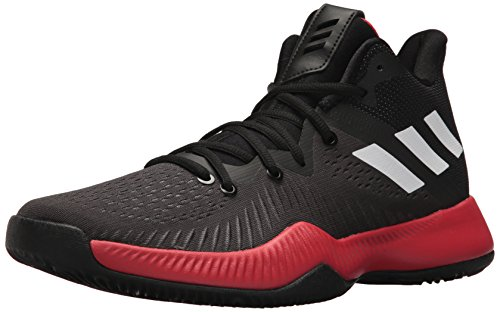 adidas Men's Mad Bounce Basketball Shoe, Core Black/White/Semi Frozen Yellow, 12 M US