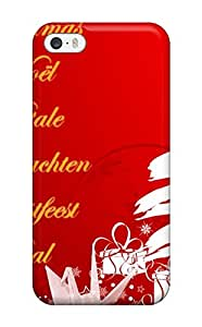 Iphone 5/5s Christmas Music Languages Print High Quality Tpu Gel Frame Case Cover