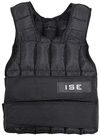 ISE SY3002 - Chaleco con peso ajustable de 5 kg, 10 kg, 15 kg, 20 kg, 25 kg, 30 kg, para entrenamiento de musculación: Amazon.es: Deportes y aire libre