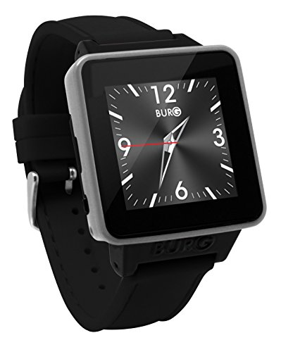 Price comparison product image BURG Neon 16A Smartwatch Phone with SIM Card for iOS and Android - Black