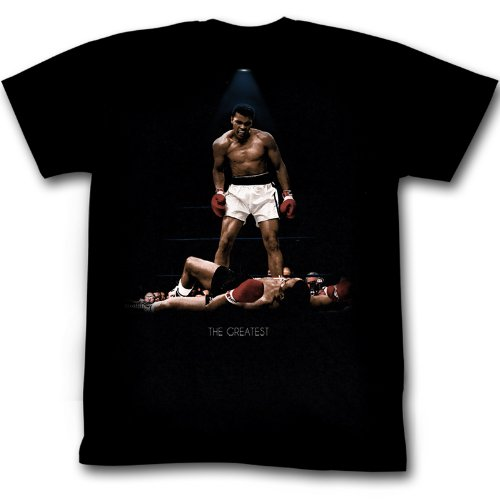 American Classics Muhammad Ali All Over Again T-Shirt Black Adult Unisex 100% Cotton Short Sleeve