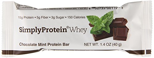 Simply Whey Protein Bars, chocolat menthe, 12 compter, 1,4 Bars Oz