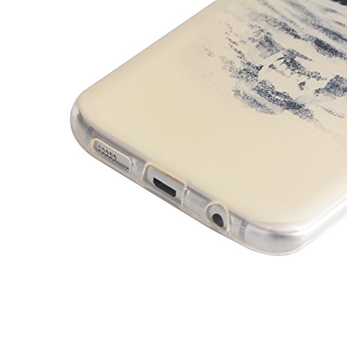TPU para smartphone Galaxy S7Edge con resistente al diseño–Carcasa Funda Protective Cool suave cristal Back Cover Case Carcasa Cover en smartphone para Samsung Galaxy S7Edge con Ultra Thin Skin Fu 7