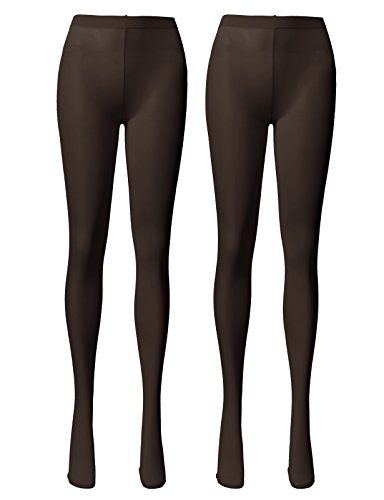 OSABASA Semi Opaque Tights with Control Top BROWN (KWMT05)