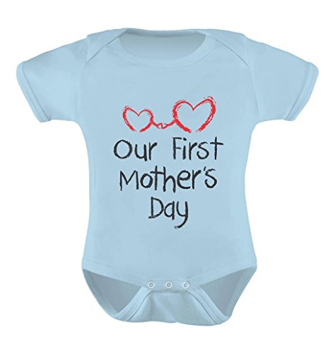 Our First Mothers Day - Mommy and Me Cute Infant Baby Bodysuit