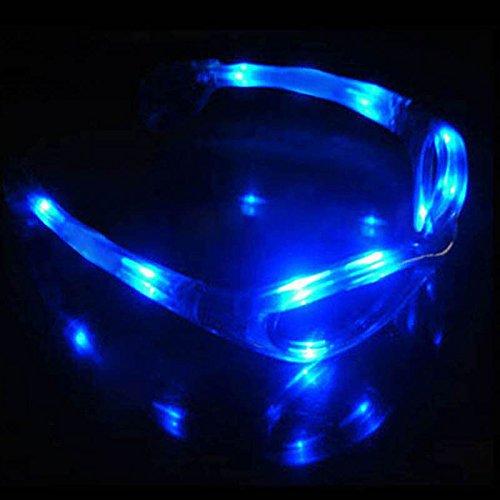 JUNGSON--Assort Flashing LED Light Up Glasses Blinking Sunglasses Rave Party Xmas - Sunglasses Decorate Craft
