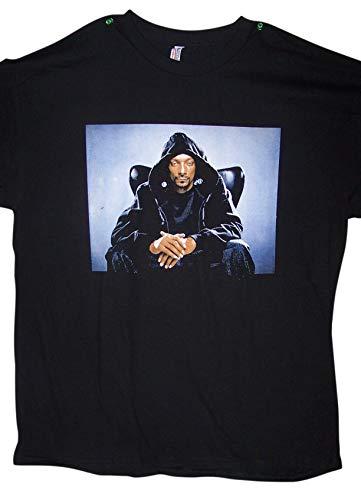 Retail Dog T-shirts Black - Snoop Dog US Screen Printed 100% Cotton Hip Hop T-Shirts - 2XLarge (HhTs23 Z) Black