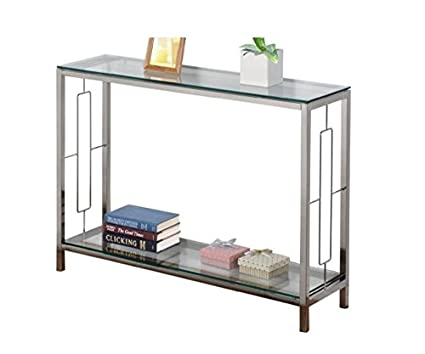 Amazoncom Athena Modern Contemporary Glass Console Table With