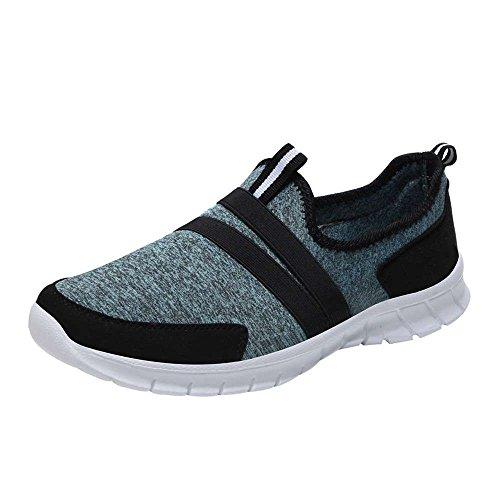 Perezoso de Claro Calzado Casual Calcetero la Suave QUICKLYLY Redondo Mujer Zapatos para Deportivo Cabeza Calzado Azul para Deportivo pies gw5xzFUq