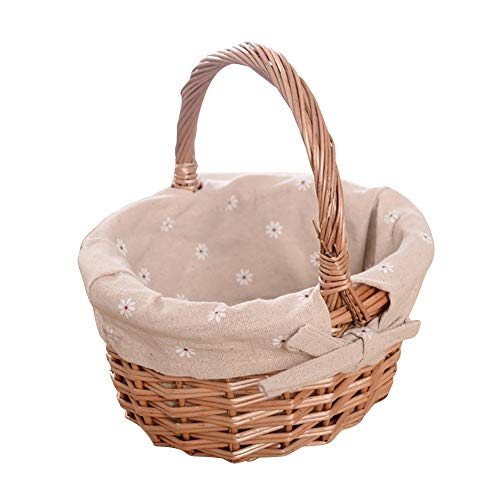 Basket Flowers Easter - Loveble Handwoven Willow Basket Storage Basket Flower Basket for Kitchen House Garden Decoration