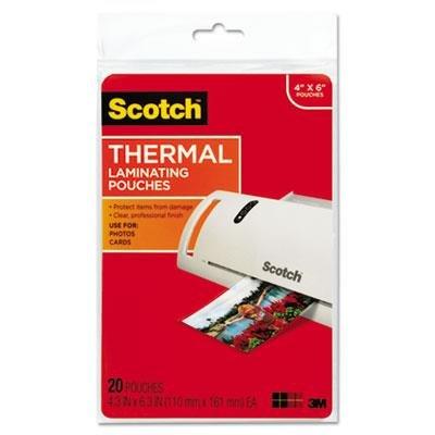 Scotch Brand 9209669 MMMTP590020-Scotch Photo Size Thermal Laminating Pouches