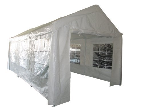 MCombo 10'x30' Canopy White Party Tent Outdoor Gazebo Wedding Tent with Removable Walls (8 Removable Walls)