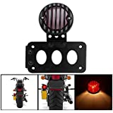 Support plaque immatriculation Support latéral furiauto vertical Tail Light pour Harley Bobber Chopper
