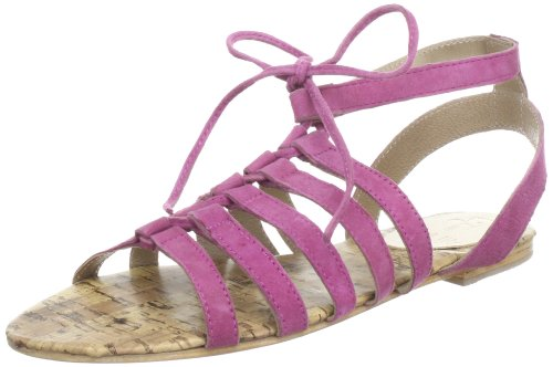 Black Lily cosmos sandal - Sandalias de cuero mujer rosa - Pink (fuchsia)