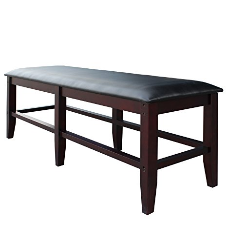 (Hathaway Unity Spectator Storage Bench, Antique Walnut)