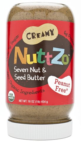 Nuttzo - Organic Creamy Peanut Free Multi-Nut Butter, (Healthy, Delicious & ALA Omega-3), Buy Case of SIX Jars and SAVE, Each Jar is 16 Oz (Pack of 6)