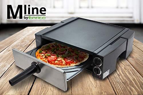 MLINE 4 in 1 teppanyaki Pizzaofen Magnal Schaschlik-Grill Elektrischer Tischgrill Elektrogril