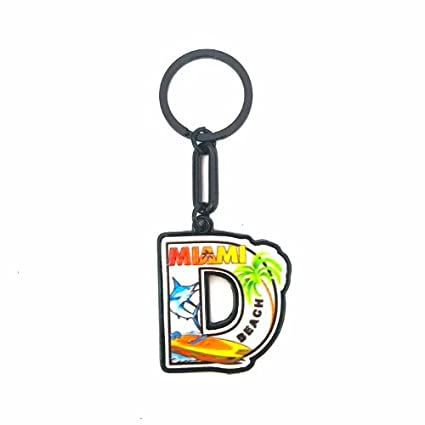 Amazon.com : KEYCHAIN LETTER D FROM MIAMI BEACH : Office ...