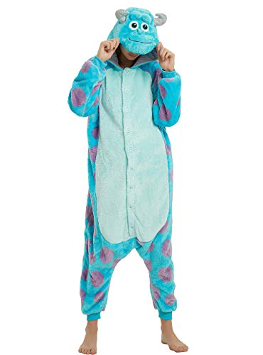 Sulley Adult Onesie, Sully Costume for Women, Men and Teens.L ()