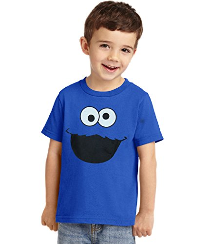 Animation Shops Cookie Monster Face Toddler T-Shirt-3T (Cookie Toddler)
