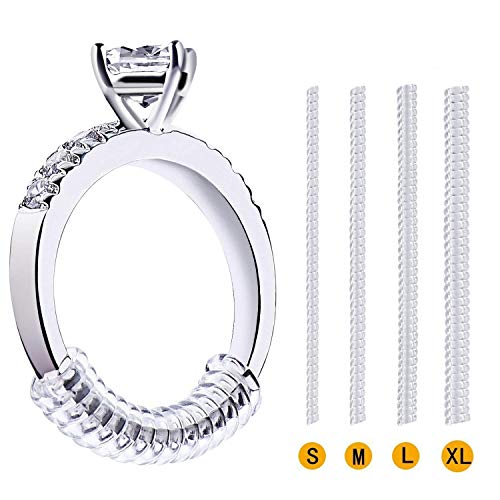 Platinum Diamonds Loose - Vetoo Invisible Ring Size Adjuster for Loose Rings - Clear Ring Sizer, Ring Guard, 4 Sizes Fit for Any Rings, Pack of 16(1.2mm/2mm/3mm/4mm)