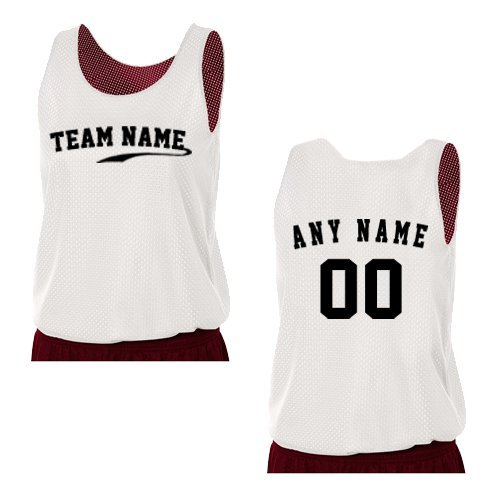 A4 Sportswear Cardinal/White Ladies Small Reversible Custom (Front and/or Back) Tank Uniform Jersey Top