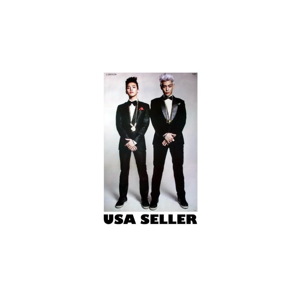 Bigbang G Dragon and Top POSTER 23.5 x 34 Big Bang T.O.P. Tae Yang Korean boy band (sent FROM USA in PVC pipe)
