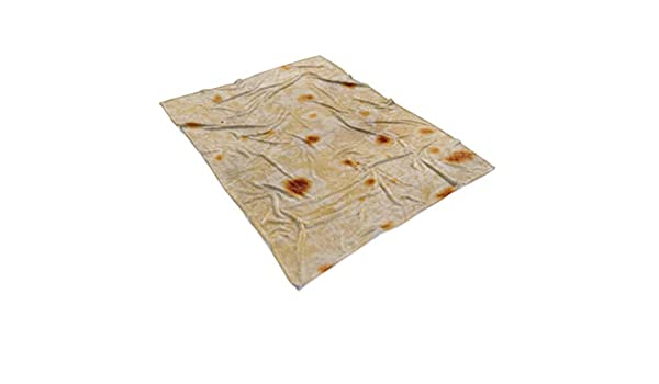 MIRRAY 2019 - Manta de muletón Tortilla Burrito Throw Texture Tortilla Soft Manta de muletón Throw Super Soft, poliéster, Ver Imagen, 100x125cm: Amazon.es: Hogar