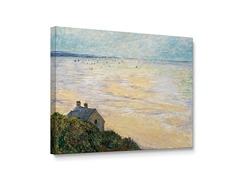 Niwo ART (TM) - The Hut in Trouville, by Claude Monet, Oil painting Reproduction - Giclee Wall Art for Home Decor, Gallery Wrapped, Stretched, Framed Ready to Hang - Hut Wheelers
