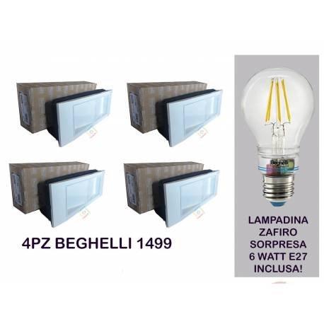incluye l/ámpara Zafiro 6/W 2700/K anti Blackout /PLAFONIERA 4/l/ámparas de emergencia 11/W LED 1499/K Kit Beghelli/