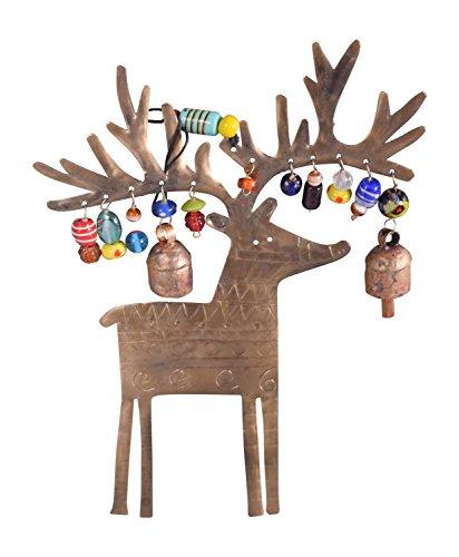 Charming Glass Bead - Reindeer Metal and Glass Beads Wind Chime, Medium