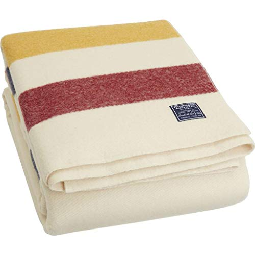 Faribault King Size Revival Blanket | Bone -
