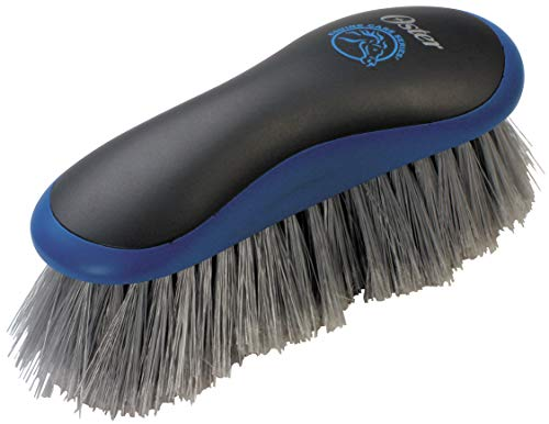 Oster Equine Care Series Horse Grooming Brush, Stiff Bristle, Blue (078399-100-001)