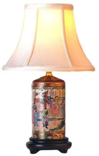 Porcelain Vase Table Lamp - Rose Medallion Porcelain Vase Table Lamp 15