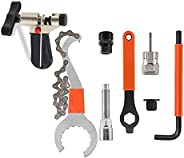8Pcs Bike Tool kits set, ATGRS 3 in 1 Multi Bike Cassette Removal Tool with Chain Whip and Auxiliary Wrench &a