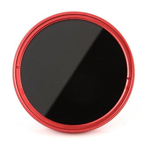 FOTGA 77mm ND2-400 Red Lens Filter Adjustable Variable Neutral Density For Camera