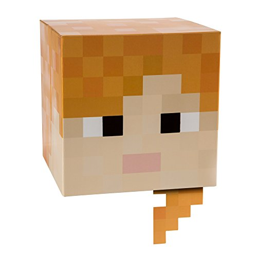 JINX Minecraft Alex Head Costume Mask, Cardboard,
