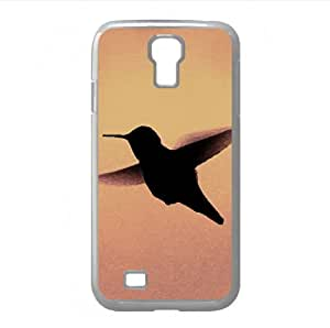 Hummingbird Silhouette Watercolor style Cover Samsung Galaxy S4 I9500 Case (Birds Watercolor style Cover Samsung Galaxy S4 I9500 Case)