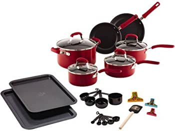 Guy Fieri 25-Piece Nonstick Cookware Set