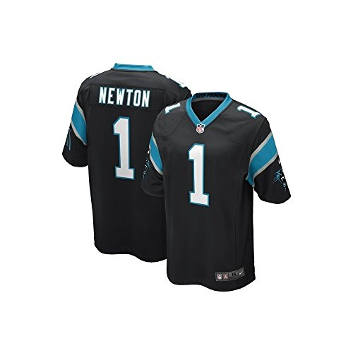 The Nike Carolina Panthers Cam Newton NFL Game Team Jersey Black/Tidal Blue Size Small ()