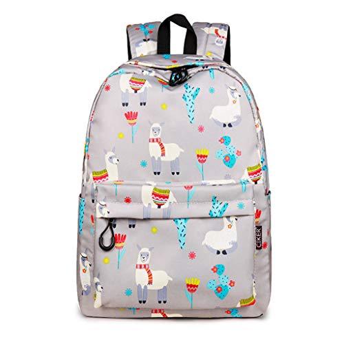 Waterproof Alpaca Cactus Printing Backpacks College Student Bookbags Bagpack Girls School Knapsack