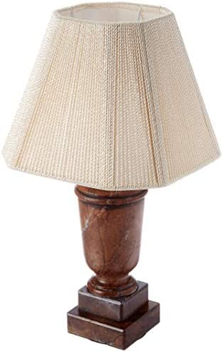 Royal Designs Crackle Alabaster Mini Lamp Square Bell Lampshade