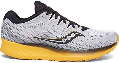 Saucony Ride ISO 2 Schuhe Herren Grey/Yellow 2020 Laufsport Schuhe