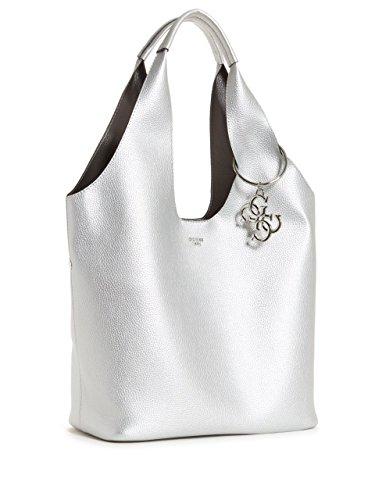 Bag x Shoulder Sil H 45x31x16 L Silver Silver Women's 5 cm W Guess Flora q4txnatP